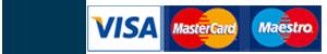 MobilePay, Visa, MasterCard, Maestro