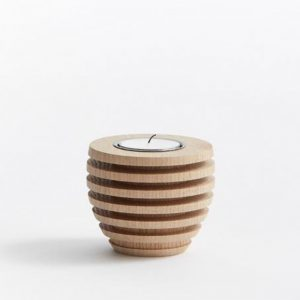 The Oak Men Pine Tea Light Egetræ