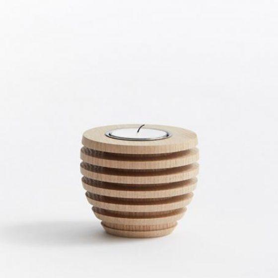 The Oak Men Pine Tea Light Egetræ