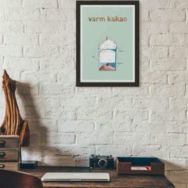 Plakat Coffeeprints Varm kakao