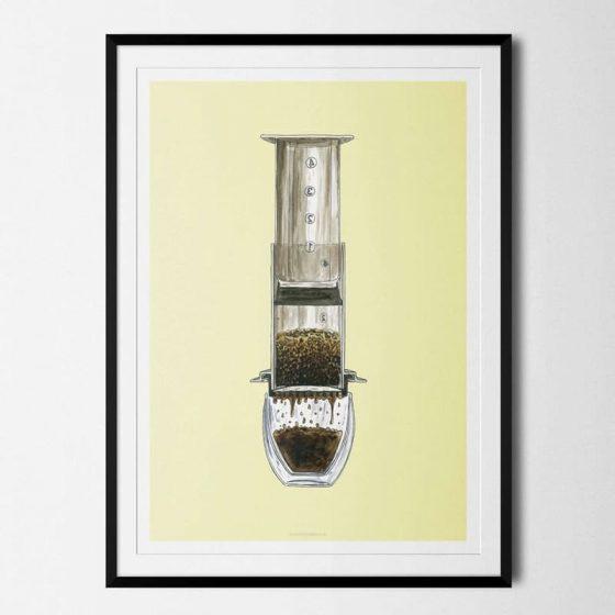 Plakat Aeropress Kaffe Coffeeprints