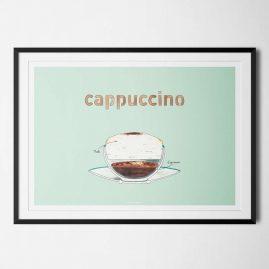 Plakat Cappucino Coffeeprints