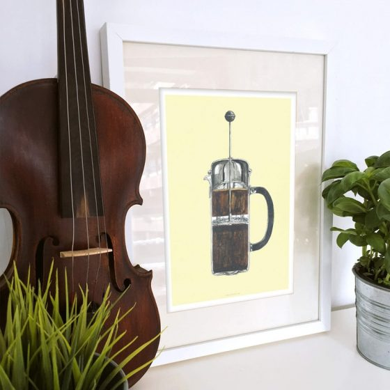 Plakat Stempelkaffe Coffeeprints
