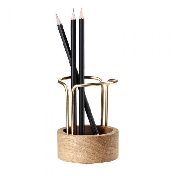 dot aarhus blyantholder egetræ pen up penholder