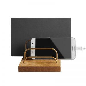 dot aarhus BRASS-DOCK iPad Tablet Mobil Eg Messing