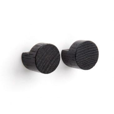 by Wirth wood knot knage sort lille - 2 knager i pakken