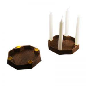 Lysestage røget eg fra Köhne-Design