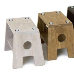 STOOL hvid olieret skammel til børn fra Collect Furniture