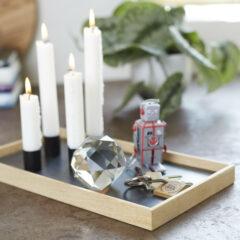 Candle Tray bakke i eg og sort fra The Oak Men