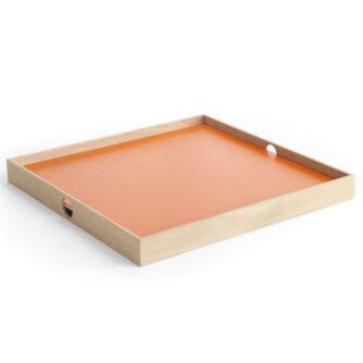 Flip Tray bakke i orange og grå 40 x 40 cm fra The Oak Men