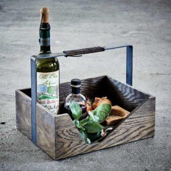 Carrie opbevaringskasse i røget egetræ fra The Oak Men