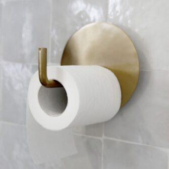 Messing toiletrulleholder fra House Doctor