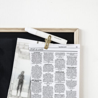 Magnetisk tavle i sort fra Monograph