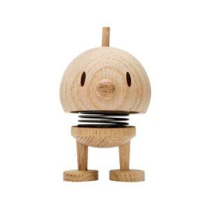 Hoptimist Bumble i ubehandlet egetræ lille på 7 cm