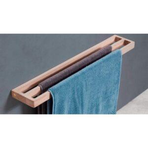 Håndklædestang i egetræ med dobbelt stang fra Andersen Furniture