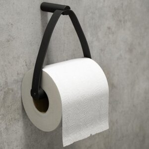 Toiletrulleholder i sort metal fra by Wirth